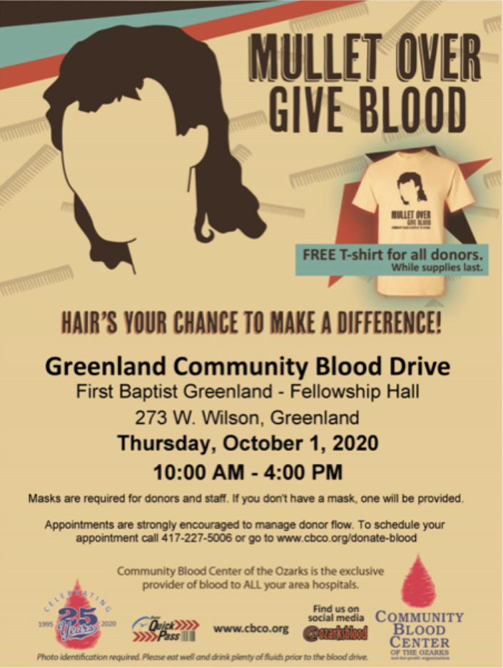 Support the Greenland School District Blood Drive!!!